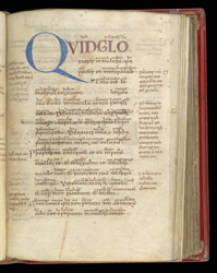 Psalm 51 Initial, In A Psalter With Old English Gloss And Commentary
